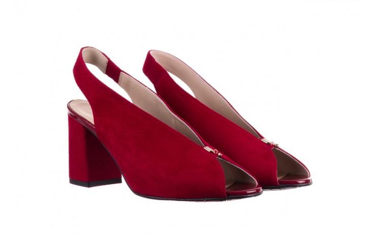 Sandały bayla-056 8097-1432 bordo zamsz, skóra naturalna  - dla niej  - sale 1