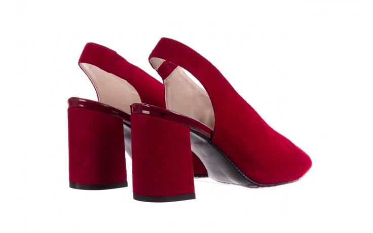 Sandały bayla-056 8097-1432 bordo zamsz, skóra naturalna  - dla niej  - sale 3