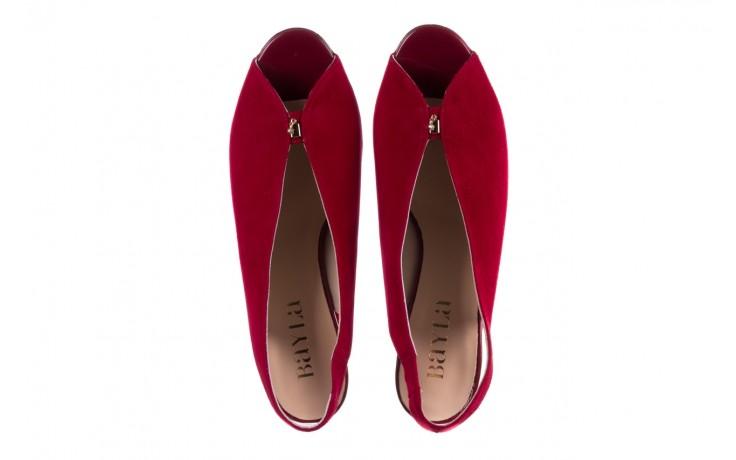 Sandały bayla-056 8097-1432 bordo zamsz, skóra naturalna  - dla niej  - sale 4