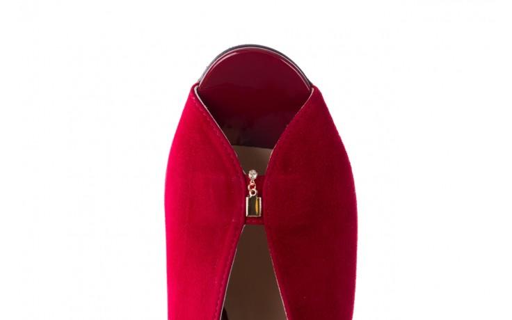 Sandały bayla-056 8097-1432 bordo zamsz, skóra naturalna  - dla niej  - sale 5