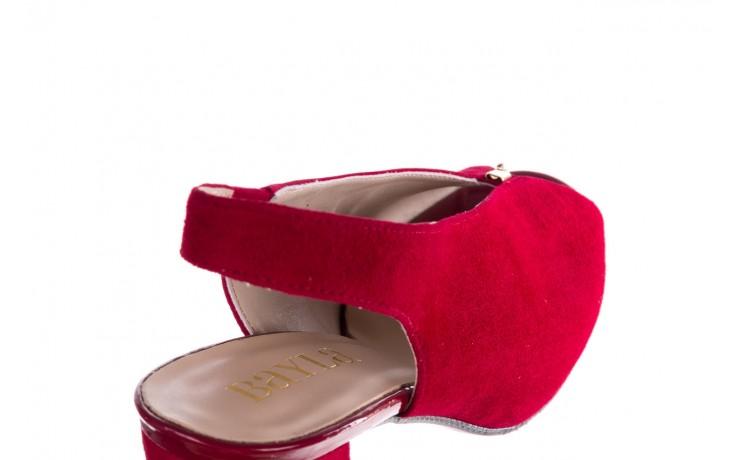 Sandały bayla-056 8097-1432 bordo zamsz, skóra naturalna  - dla niej  - sale 6