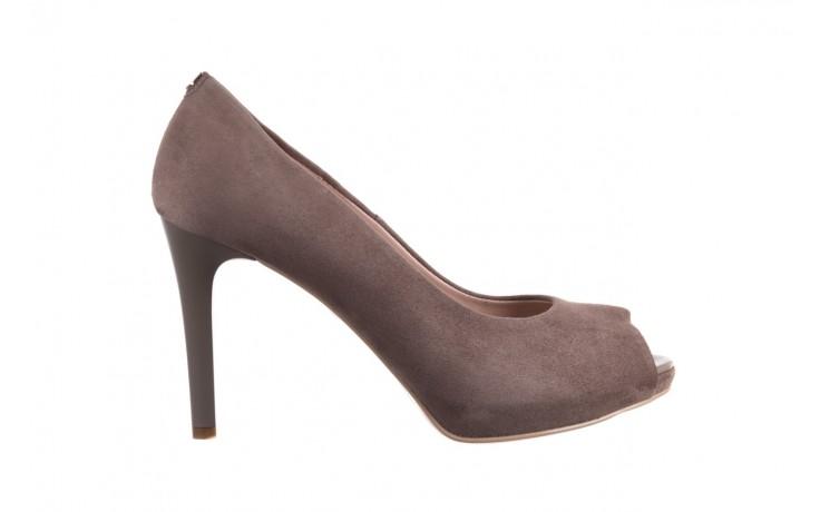 Szpilki bayla-056 9134-1318 szary zamsz, skóra naturalna  - peep toe - szpilki - buty damskie - kobieta