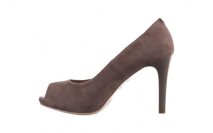 Szpilki bayla-056 9134-1318 szary zamsz, skóra naturalna  - peep toe - szpilki - buty damskie - kobieta 2