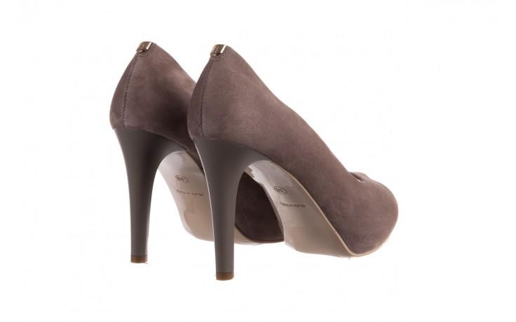 Szpilki bayla-056 9134-1318 szary zamsz, skóra naturalna  - peep toe - szpilki - buty damskie - kobieta 3