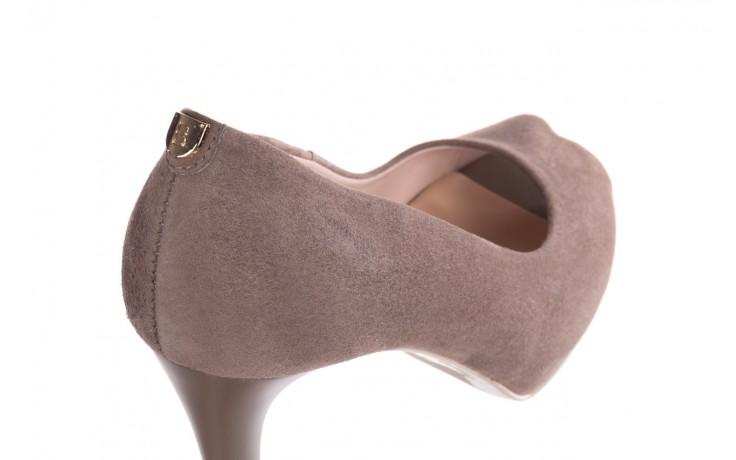 Szpilki bayla-056 9134-1318 szary zamsz, skóra naturalna  - peep toe - szpilki - buty damskie - kobieta 5