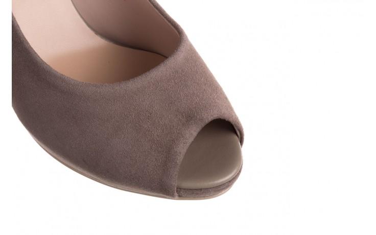 Szpilki bayla-056 9134-1318 szary zamsz, skóra naturalna  - peep toe - szpilki - buty damskie - kobieta 6