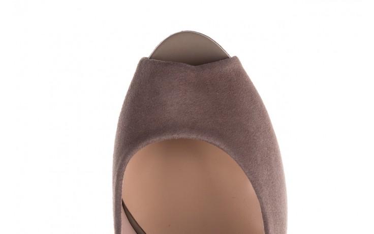 Szpilki bayla-056 9134-1318 szary zamsz, skóra naturalna  - peep toe - szpilki - buty damskie - kobieta 7