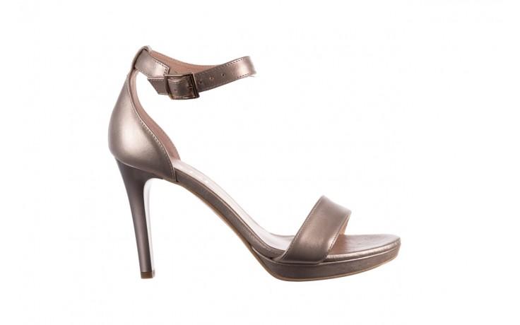Sandały bayla-056 9177-1099 beż perła, skóra naturalna  - na obcasie - sandały - buty damskie - kobieta