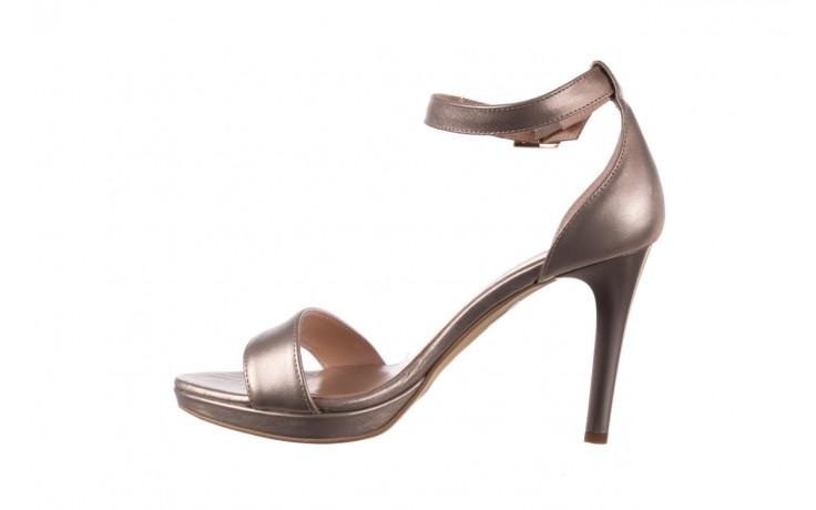 Sandały bayla-056 9177-1099 beż perła, skóra naturalna  - na obcasie - sandały - buty damskie - kobieta 2