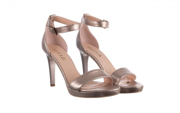 Sandały bayla-056 9177-1099 beż perła, skóra naturalna  - na obcasie - sandały - buty damskie - kobieta 1