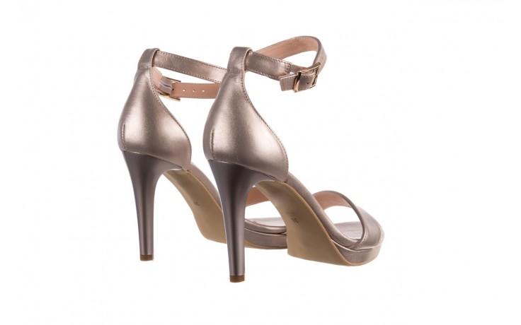 Sandały bayla-056 9177-1099 beż perła, skóra naturalna  - na obcasie - sandały - buty damskie - kobieta 3