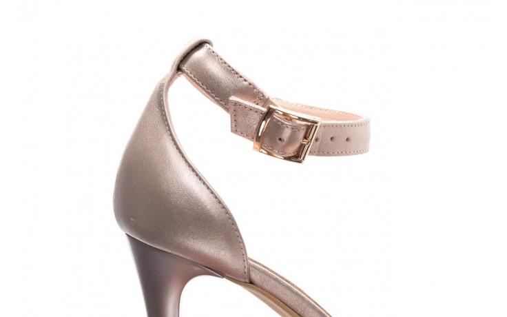 Sandały bayla-056 9177-1099 beż perła, skóra naturalna  - na obcasie - sandały - buty damskie - kobieta 5
