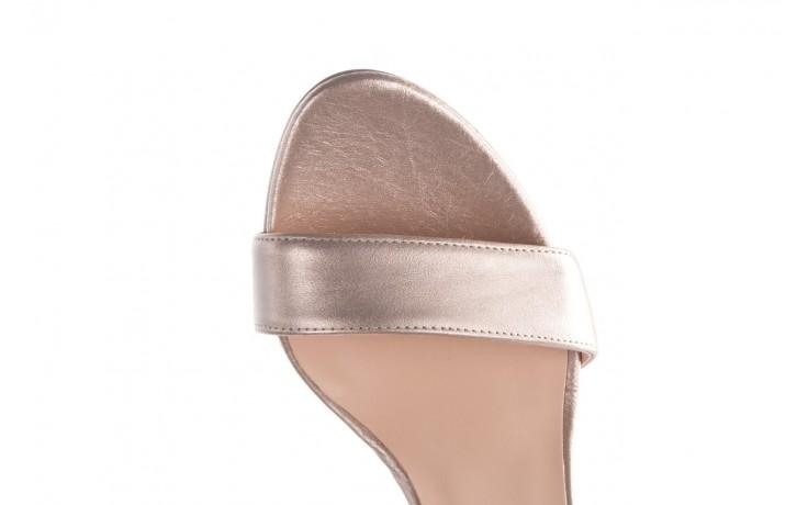 Sandały bayla-056 9177-1099 beż perła, skóra naturalna  - na obcasie - sandały - buty damskie - kobieta 6