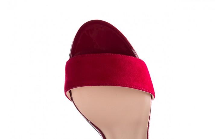 Sandały bayla-056 8024-1432 burgund zamsz, skóra naturalna 6