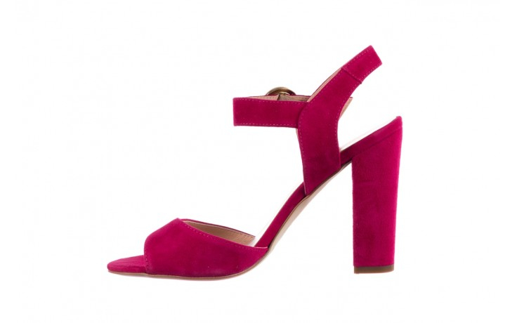 Sandały bayla-056 8023-1311 fuksja zamsz, skóra naturalna  - na obcasie - sandały - buty damskie - kobieta 2