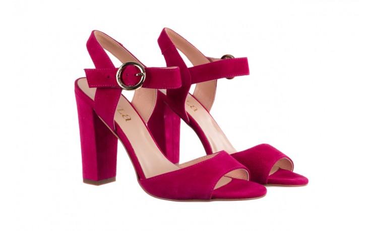 Sandały bayla-056 8023-1311 fuksja zamsz, skóra naturalna  - na obcasie - sandały - buty damskie - kobieta 1
