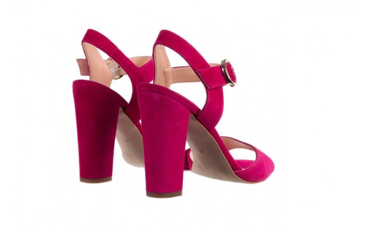 Sandały bayla-056 8023-1311 fuksja zamsz, skóra naturalna  - na obcasie - sandały - buty damskie - kobieta 3