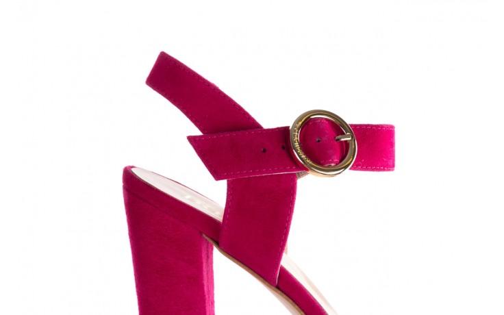 Sandały bayla-056 8023-1311 fuksja zamsz, skóra naturalna  - na obcasie - sandały - buty damskie - kobieta 5