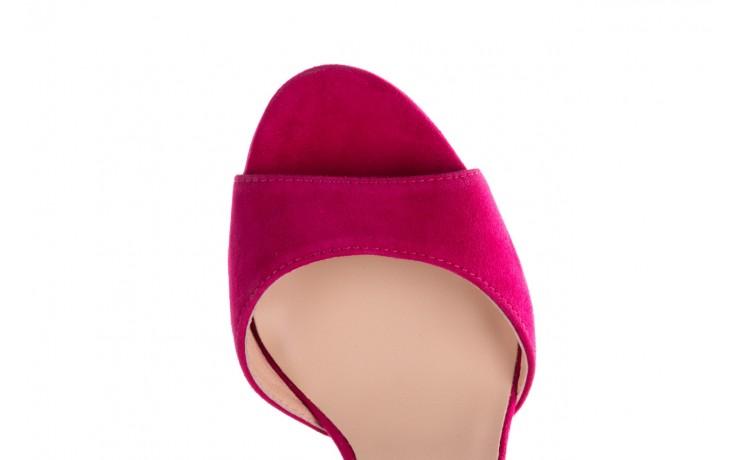 Sandały bayla-056 8023-1311 fuksja zamsz, skóra naturalna  - na obcasie - sandały - buty damskie - kobieta 6