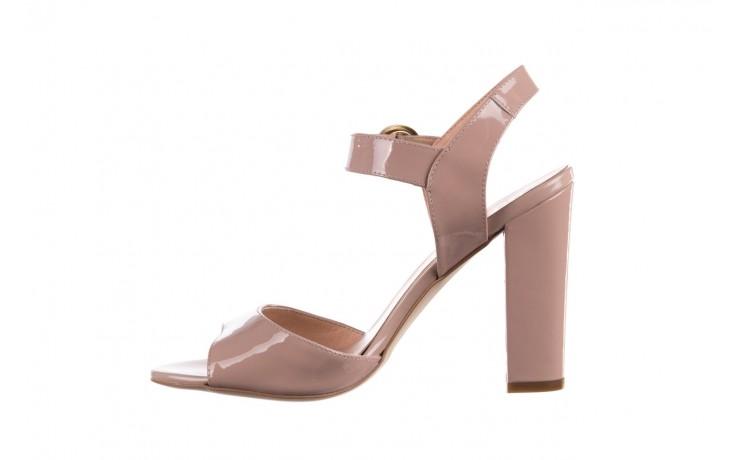 Sandały bayla-056 8023-430 beż lakier, skóra naturalna  - skórzane - sandały - buty damskie - kobieta 2