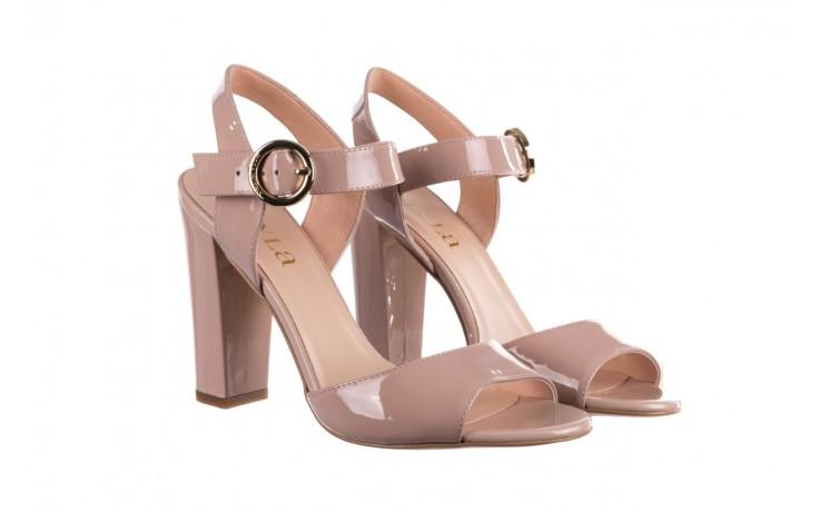 Sandały bayla-056 8023-430 beż lakier, skóra naturalna  - skórzane - sandały - buty damskie - kobieta 1