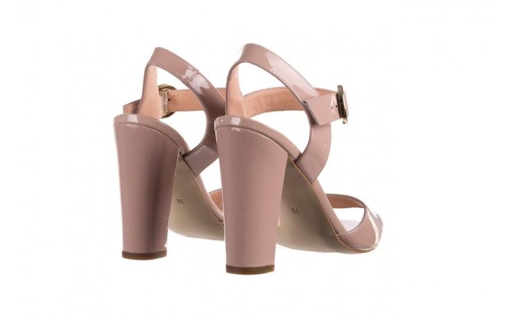 Sandały bayla-056 8023-430 beż lakier, skóra naturalna  - skórzane - sandały - buty damskie - kobieta 3