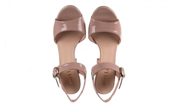Sandały bayla-056 8023-430 beż lakier, skóra naturalna  - skórzane - sandały - buty damskie - kobieta 4