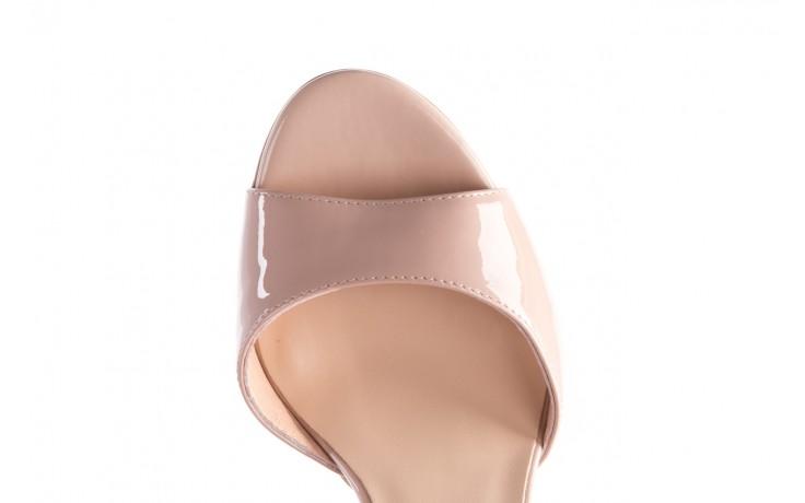 Sandały bayla-056 8023-430 beż lakier, skóra naturalna  - skórzane - sandały - buty damskie - kobieta 6