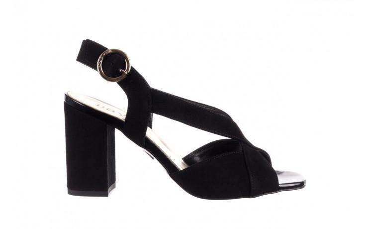 Sandały bayla-056 9205-21 czarny zamsz, skóra naturalna  - skórzane - sandały - buty damskie - kobieta