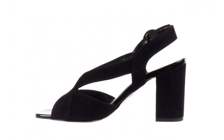 Sandały bayla-056 9205-21 czarny zamsz, skóra naturalna  - skórzane - sandały - buty damskie - kobieta 2