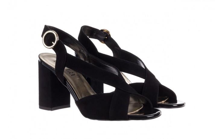 Sandały bayla-056 9205-21 czarny zamsz, skóra naturalna  - skórzane - sandały - buty damskie - kobieta 1