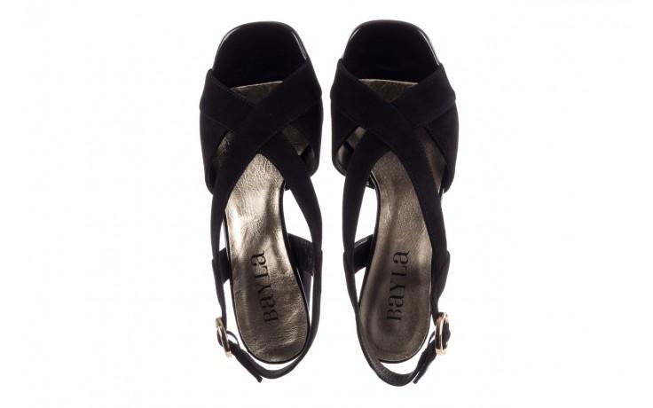 Sandały bayla-056 9205-21 czarny zamsz, skóra naturalna  - skórzane - sandały - buty damskie - kobieta 4