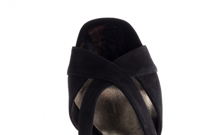 Sandały bayla-056 9205-21 czarny zamsz, skóra naturalna  - skórzane - sandały - buty damskie - kobieta 5