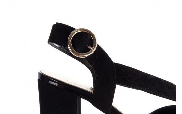 Sandały bayla-056 9205-21 czarny zamsz, skóra naturalna  - skórzane - sandały - buty damskie - kobieta 6