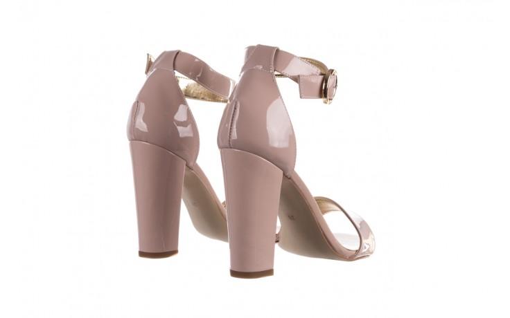 Sandały bayla-056 8024-430 beż lakier, skóra naturalna  - skórzane - sandały - buty damskie - kobieta 3