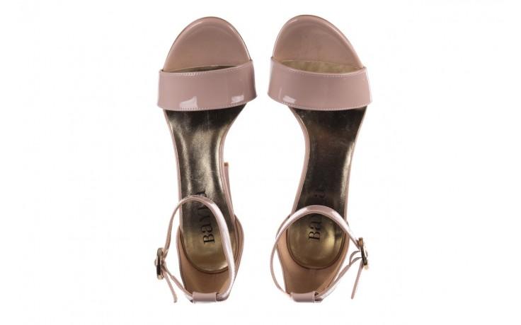 Sandały bayla-056 8024-430 beż lakier, skóra naturalna  - na obcasie - sandały - buty damskie - kobieta 4
