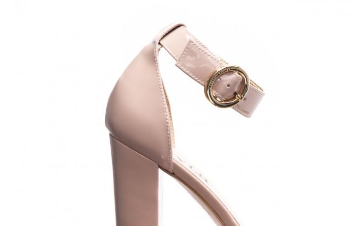 Sandały bayla-056 8024-430 beż lakier, skóra naturalna  - na obcasie - sandały - buty damskie - kobieta 5