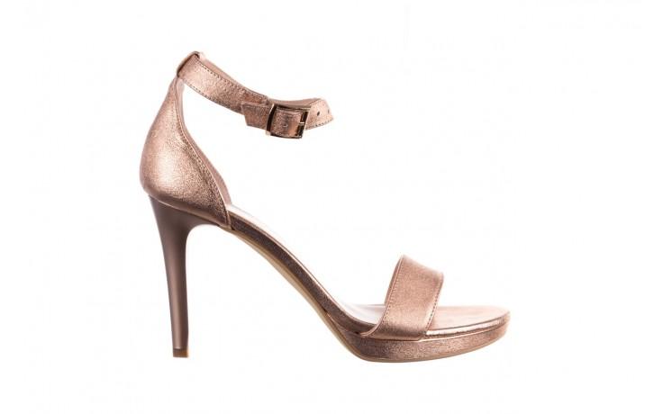 Sandały bayla-056 9177-1480 róż perła, skóra naturalna  - na obcasie - sandały - buty damskie - kobieta