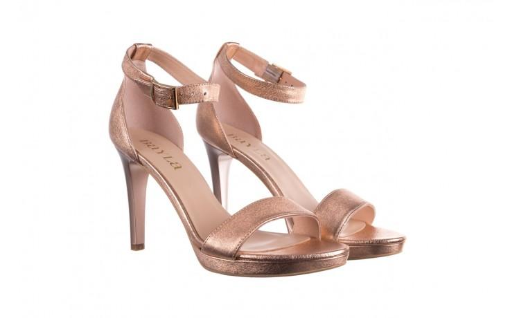 Sandały bayla-056 9177-1480 róż perła, skóra naturalna  - na obcasie - sandały - buty damskie - kobieta 1