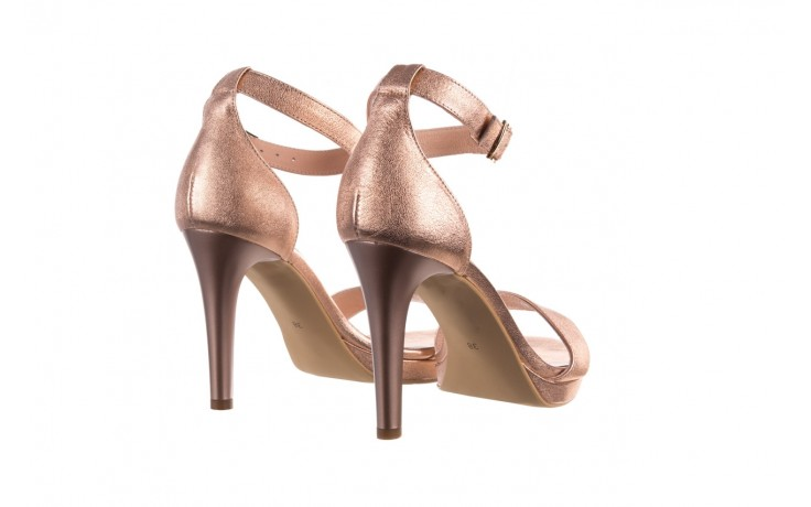 Sandały bayla-056 9177-1480 róż perła, skóra naturalna  - na obcasie - sandały - buty damskie - kobieta 3