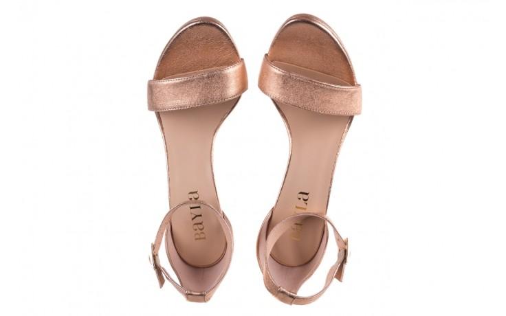 Sandały bayla-056 9177-1480 róż perła, skóra naturalna  - na obcasie - sandały - buty damskie - kobieta 4