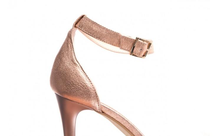 Sandały bayla-056 9177-1480 róż perła, skóra naturalna  - na obcasie - sandały - buty damskie - kobieta 5