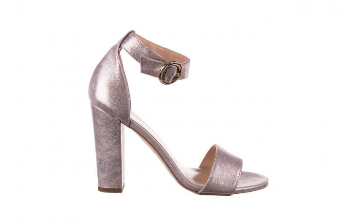 Sandały bayla-056 8024-994 lila perła, skóra naturalna