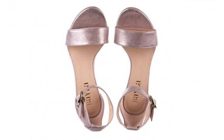 Sandały bayla-056 8024-994 lila perła, skóra naturalna 4