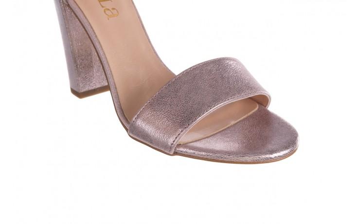 Sandały bayla-056 8024-994 lila perła, skóra naturalna 5