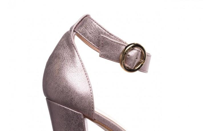 Sandały bayla-056 8024-994 lila perła, skóra naturalna 6