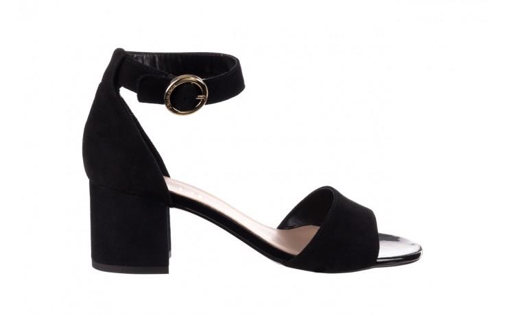 Sandały bayla-056 7049-21 czarny zamsz, skóra naturalna  - na obcasie - sandały - buty damskie - kobieta