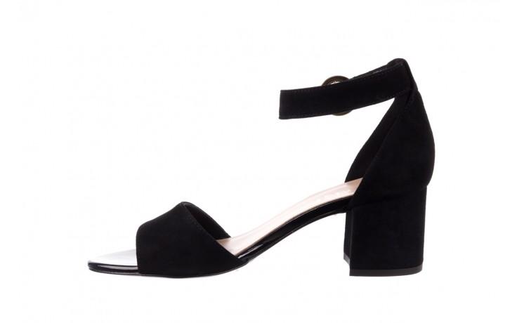 Sandały bayla-056 7049-21 czarny zamsz, skóra naturalna  - na obcasie - sandały - buty damskie - kobieta 2