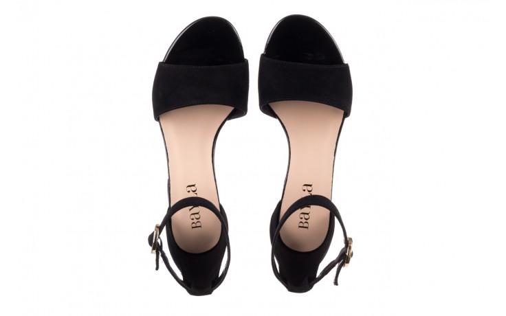 Sandały bayla-056 7049-21 czarny zamsz, skóra naturalna  - na obcasie - sandały - buty damskie - kobieta 4