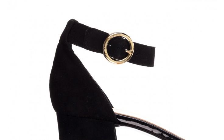 Sandały bayla-056 7049-21 czarny zamsz, skóra naturalna  - na obcasie - sandały - buty damskie - kobieta 6